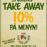 Take Away på Foxen 10% Rabatt på hela menyn!